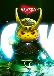 Pikachu as Loki by NEWBRA studio